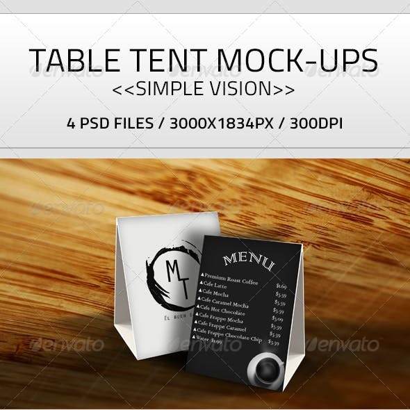 Table Tent Mock-Up PSD