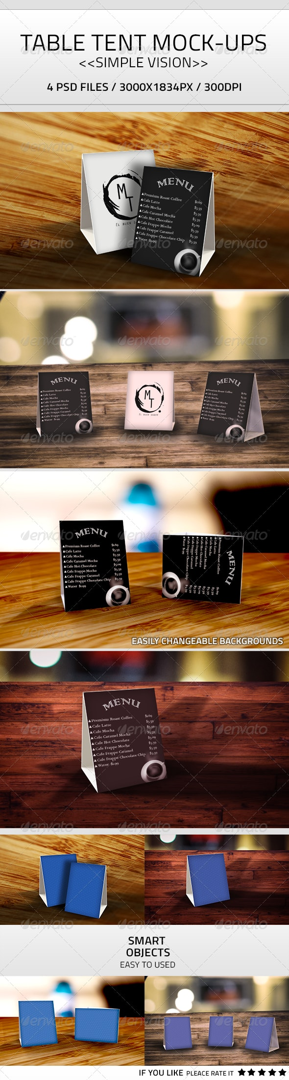 Table Tent Mock-Up PSD - Product Mock-Ups Graphics