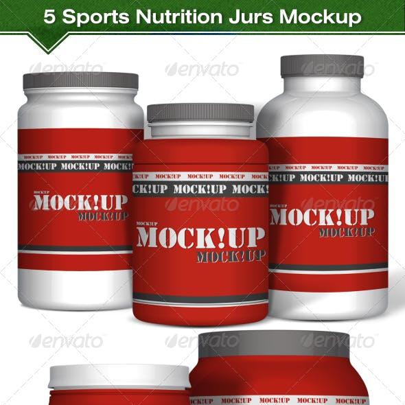5 Sports Nutrition Jurs Mockup