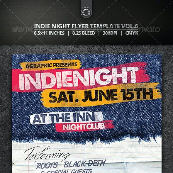 Indie Night Flyer Template Vol.6