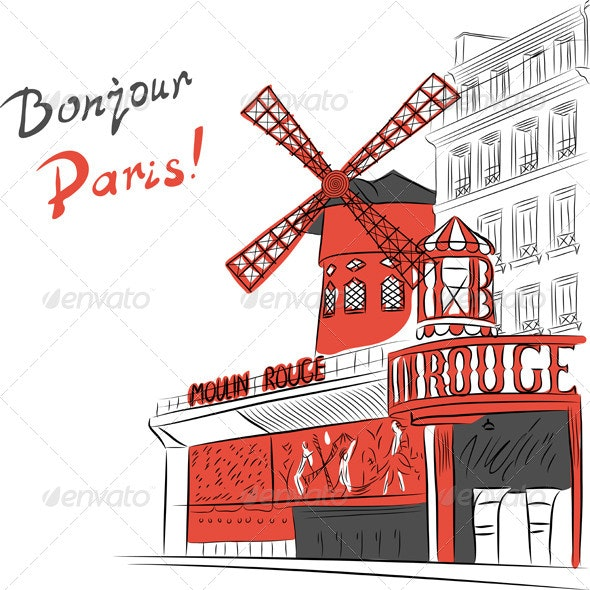 Moulin Rouge - Buildings Objects