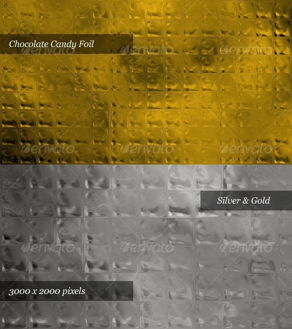 Chocolate Candy Foil (Silver & Gold) - Miscellaneous Textures