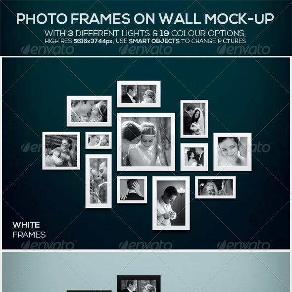 Photo Frames on Wall Mock-up