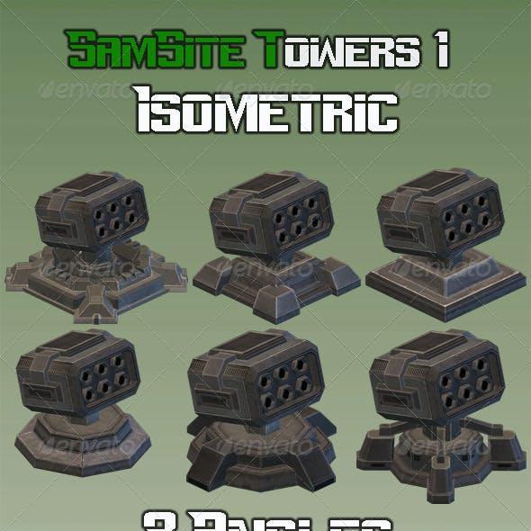 Sam Site Turret 01 - Isometric