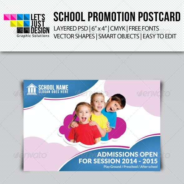 School Promotion Postcard Template