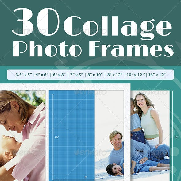 30 Collage Photo Frames