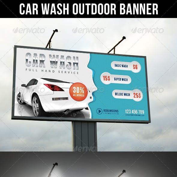 Car Wash Outdoor Banner