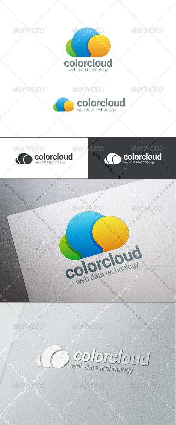 Cloud Computing Logo Bubble Chat - Abstract Logo Templates