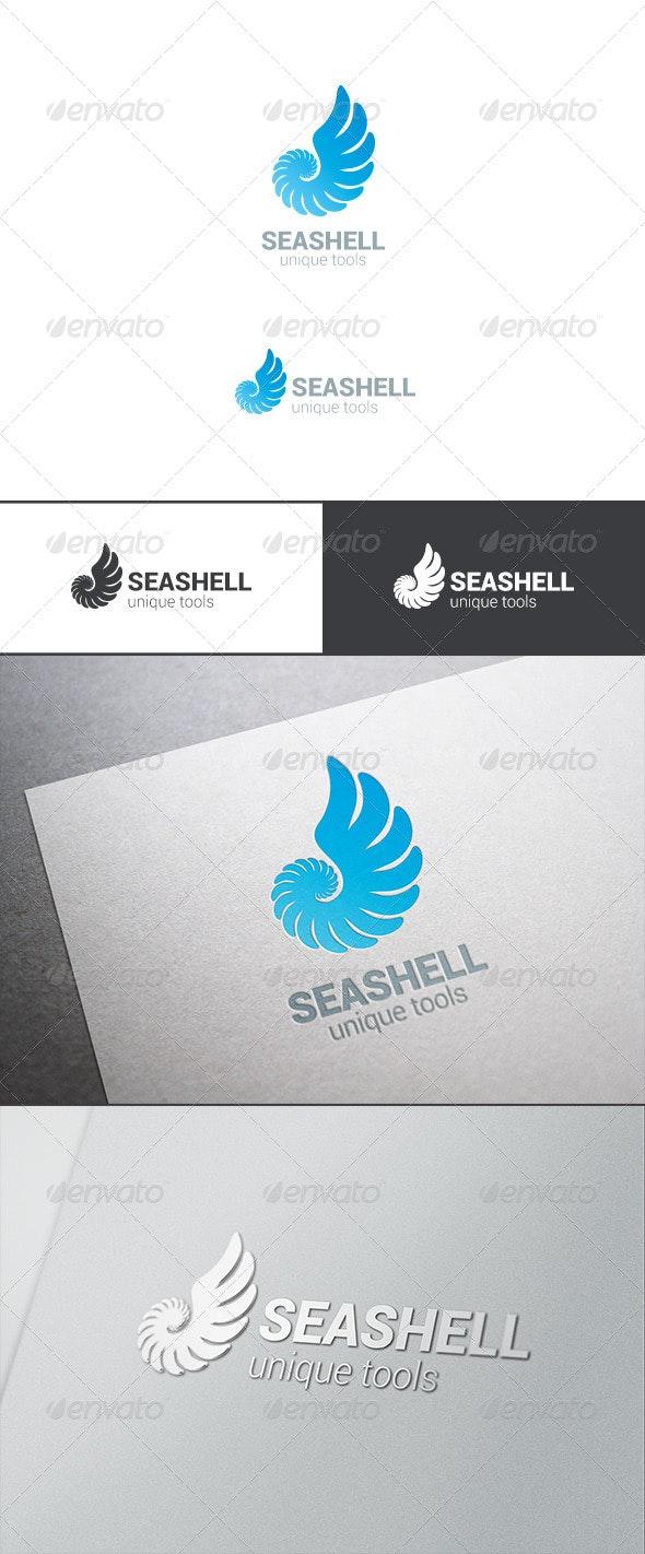 Logo Sea Shell Silhouette Abstract - Symbols Logo Templates