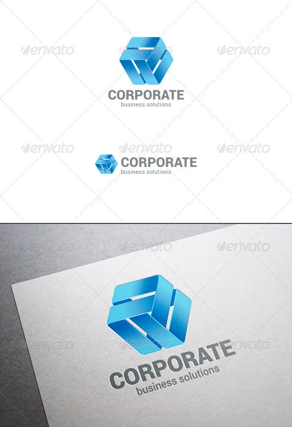 Corporate Business Logo Abstract Ribbon Loop - Abstract Logo Templates
