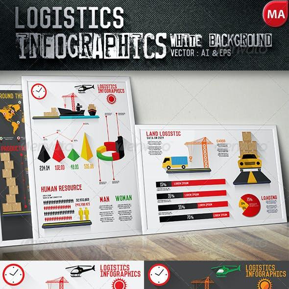 Logistics Infographics Black & White Background