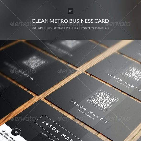 Clean Metro Business Card - 05