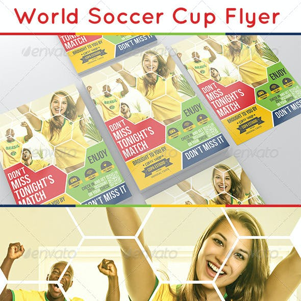 World Soccer Cup Flyer