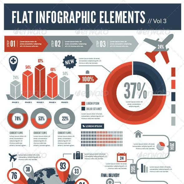Flat Vector Infographic Elements Vol 3