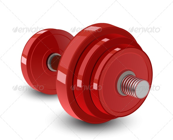 Red Dumbbell - Man-made Objects Objects