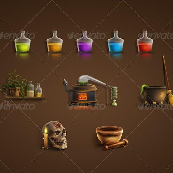 Alchemical Icon Set
