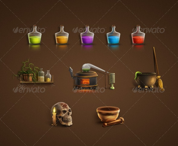 Alchemical Icon Set - Objects Icons