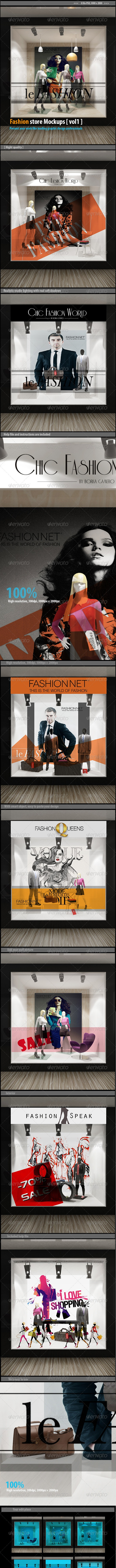 Fashion sotre mockups [vol1] - Posters Print