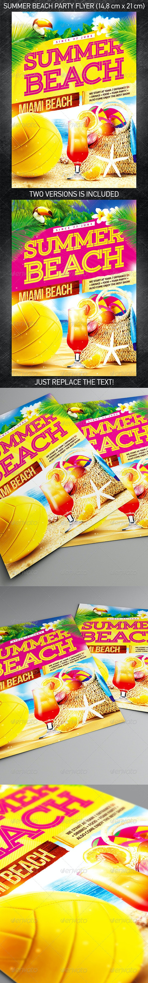 Summer Beach Party Flyer - Events Flyers