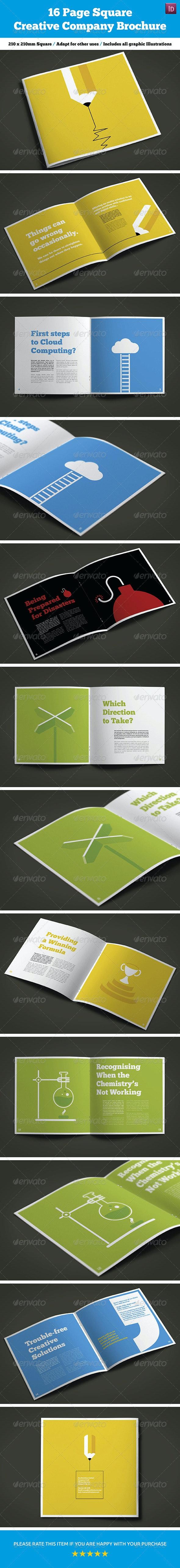 16 Page Square Creative Company Brochure - Brochures Print Templates