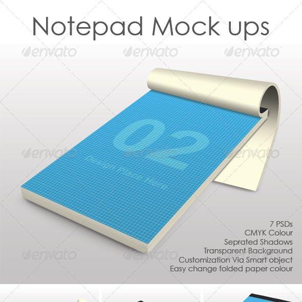 Notepad mock ups
