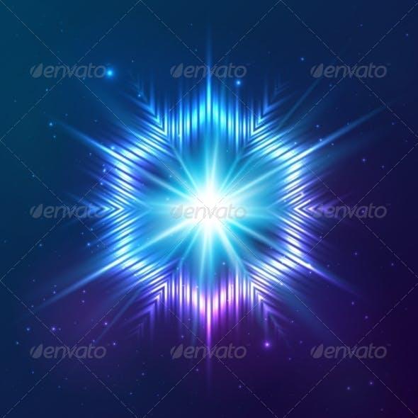 Cosmic Shining Vector Abstract Star
