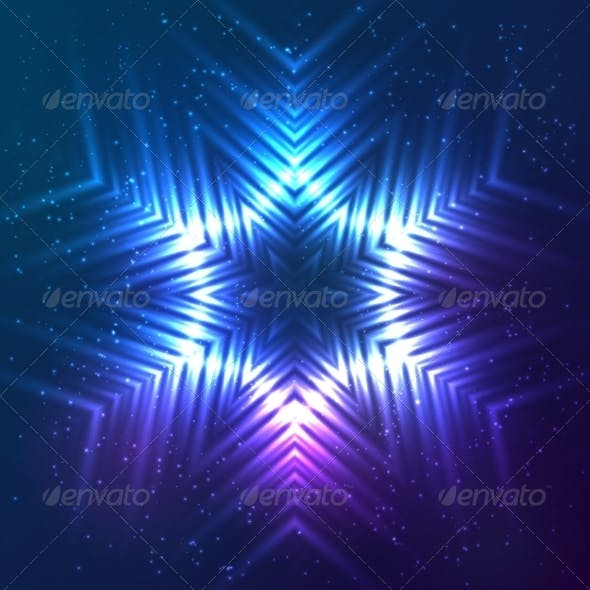 Cosmic Shining Vector Abstract Snowflake