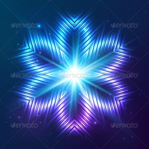 Cosmic Shining Vector Abstract Flower