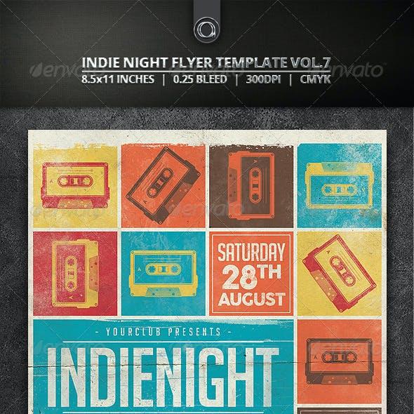 Indie Night Flyer Template Vol. 7