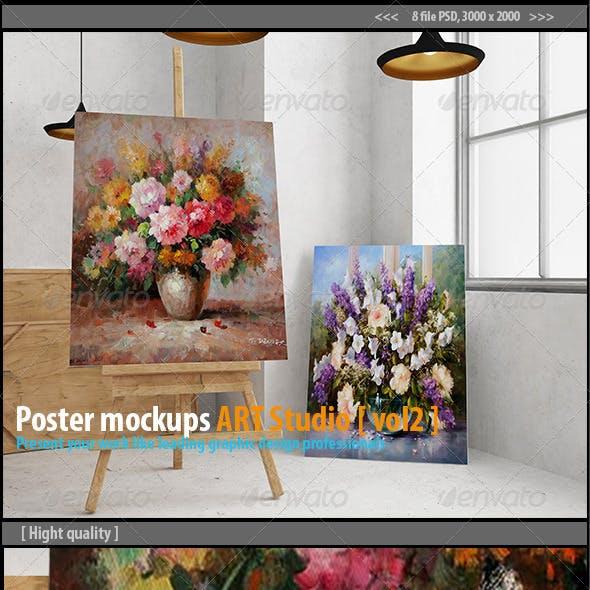 Poster mockups ART Studio [vol2]
