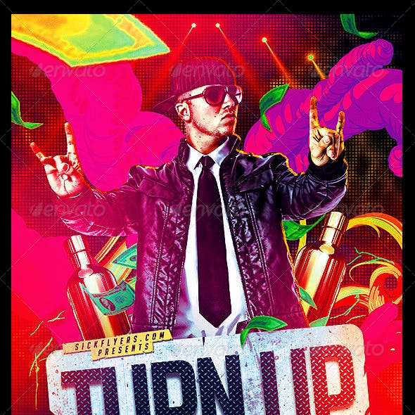 Turn Up Flyer Template PSD