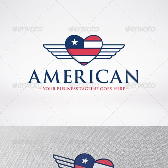 American Love Logo Template