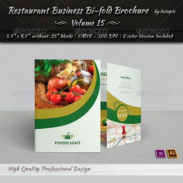 Restaurant Business Bi-Fold Brochure | Volume 15