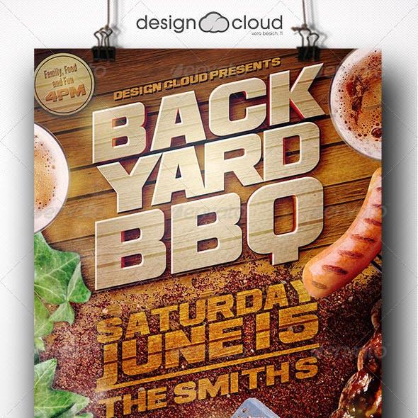 Backyard BBQ II Flyer Template