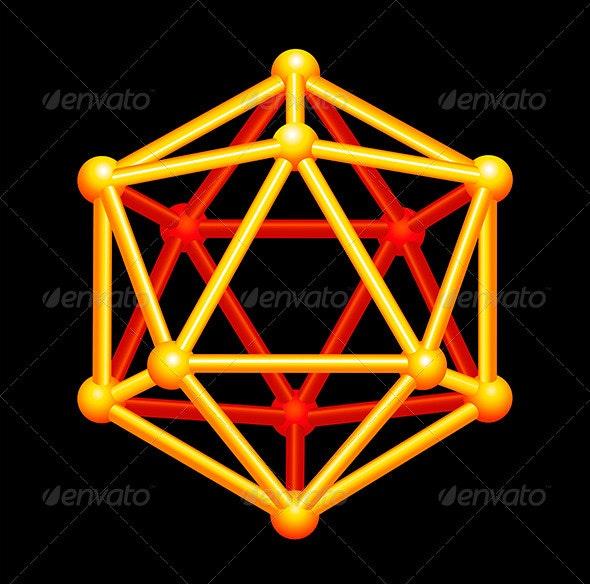 Icosahedron 3D Shape - Abstract Conceptual