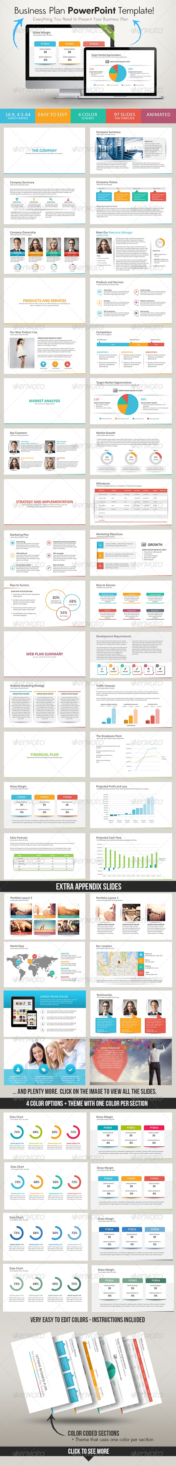 Ultimax Business Plan PowerPoint Template - Business PowerPoint Templates