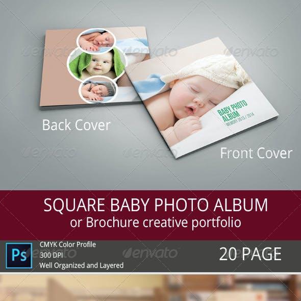 SQUARE BABY PHOTO ALBUM