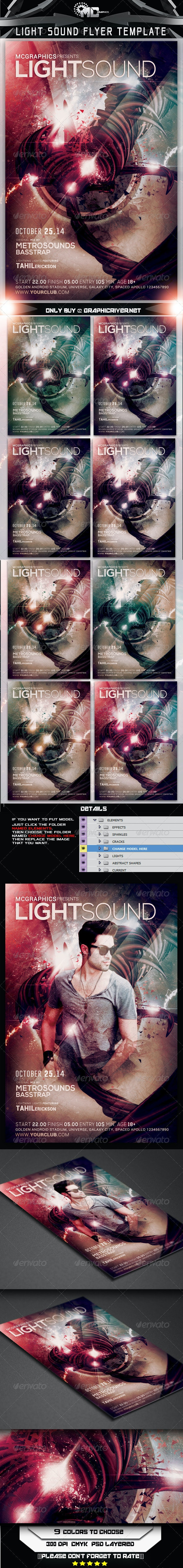 Light Sound Flyer Template - Events Flyers