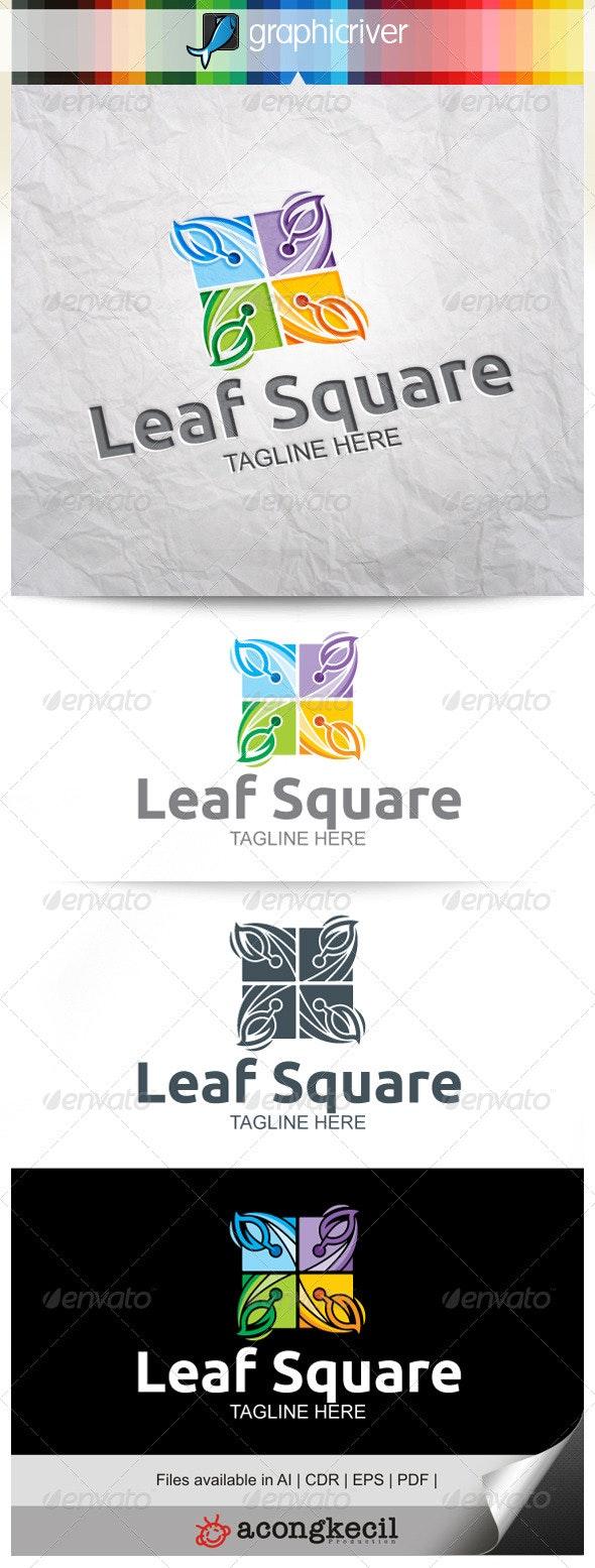 Leaf Square V.5 - Nature Logo Templates