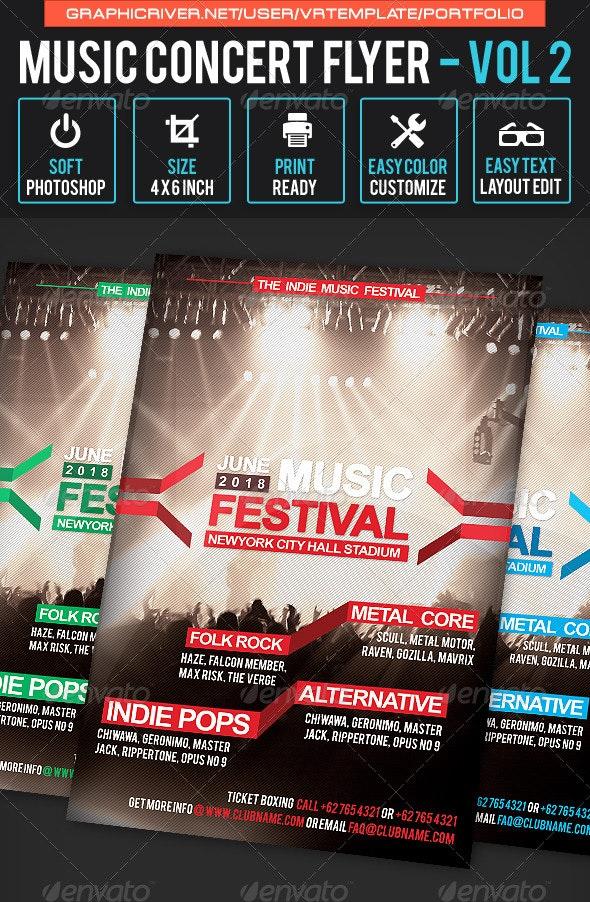 Music Concert Flyer Volume 2 - Concerts Events