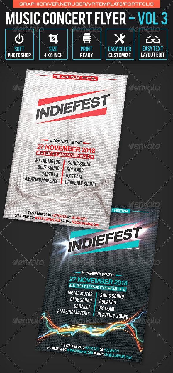 Music Concert Flyer Volume 3 - Concerts Events