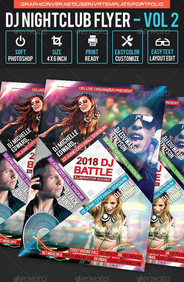 DJ NightClub Flyer Volume 2 - Clubs & Parties Events
