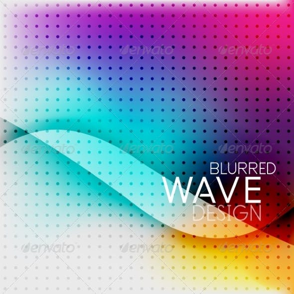 Colorful Blurred Wave Business Background