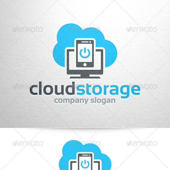 Cloud Storage Logo Template