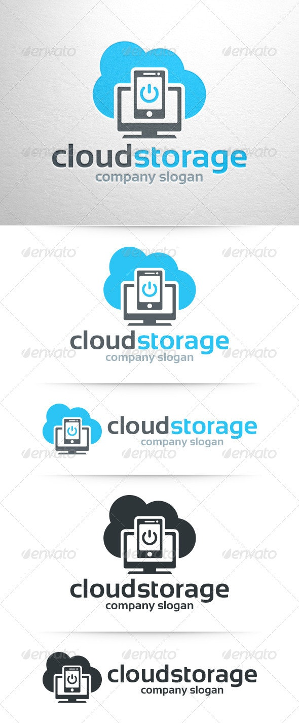 Cloud Storage Logo Template