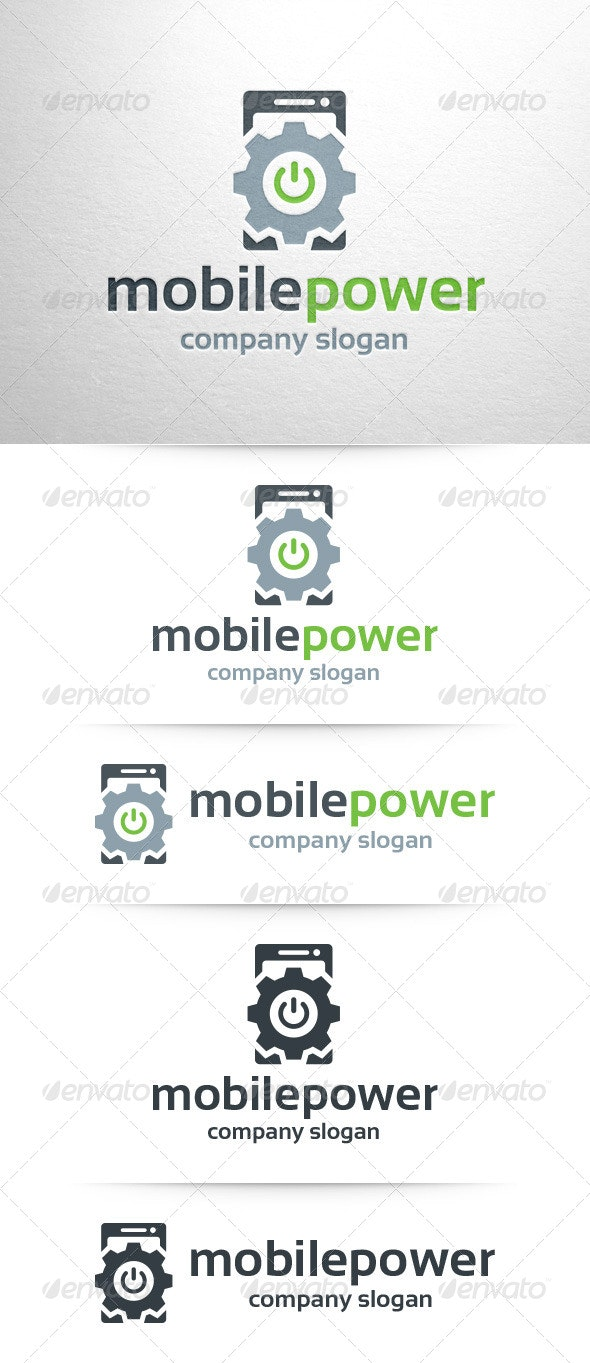 Mobile Power Logo Template