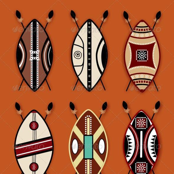 Masai Shield Vector Designs