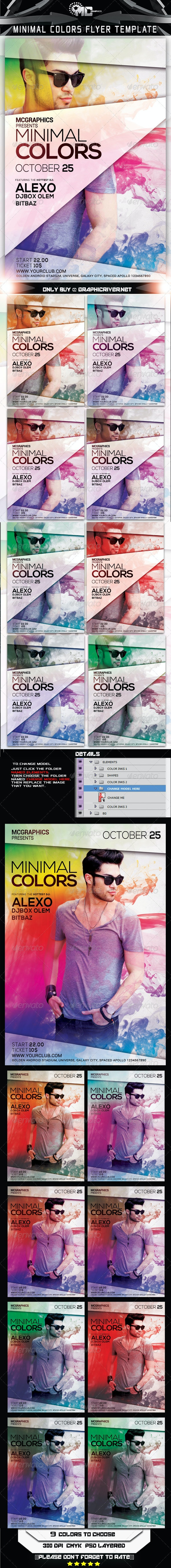 Minimal Colors Flyer Template - Flyers Print Templates