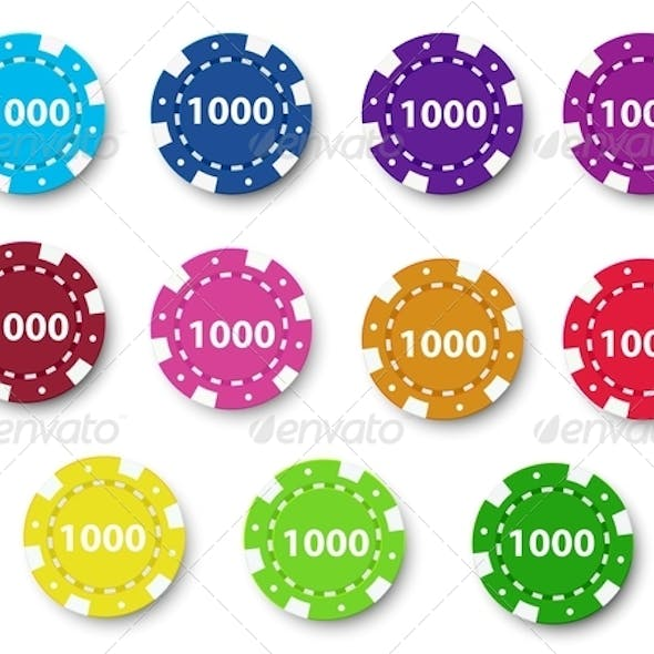 Group of Poker Chips