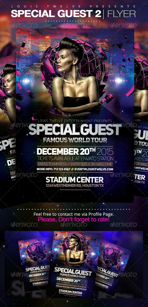 Special Guest 2 | Flyer Template - Clubs & Parties Events